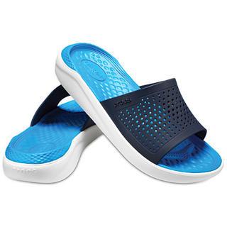 クロックス(crocs)の30%オフ クロックス 25cm ライトライド スライド ブルー ホワイト(サンダル)