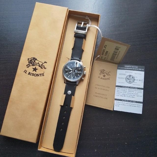 IL BISONTE - 新品 イルビゾンテ 本革 レザー 腕時計 42mm クォーツ ブラック 黒の通販 by Ginga's shop|イルビゾンテならラクマ