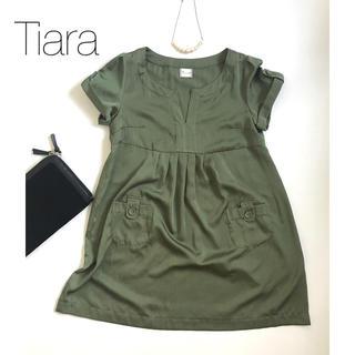 ティアラ(tiara)の★Tiara★ ティアラ ワンピース ドレス グリーン(ひざ丈ワンピース)