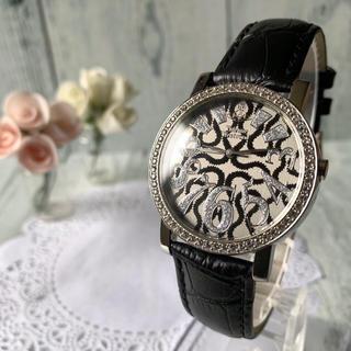 Vivienne Westwood - 【美品】 ヴィヴィアン 腕時計 ライトストーンベゼル スクイグル 柄 ブラック