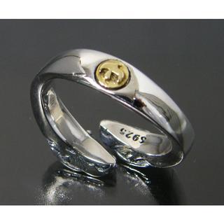 シルバー925製 イーグル ヘッド 金 イーグル メタル リング ネイティブ(リング(指輪))