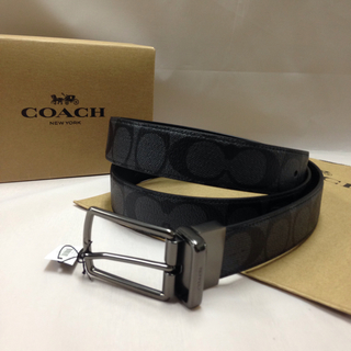 COACH - 【新品・未使用】コーチ メンズ F64825 シグネチャー リバーシブル ベルト