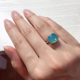 アッシュペーフランス(H.P.FRANCE)のブルーカルセドニー 天然石リング(リング(指輪))