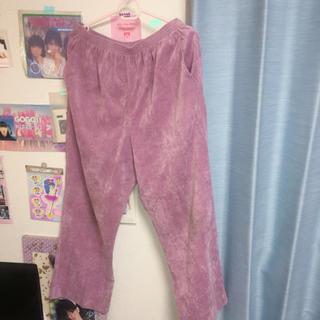 パナマボーイ(PANAMA BOY)の古着 ピンク ワイドパンツ(カジュアルパンツ)