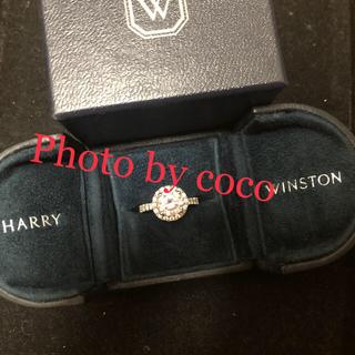 HARRY WINSTON - 最終価格❣️angelpeach  エンジェルピーチ 合成ダイヤリング 婚約指輪