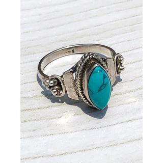 インディアンジュエリー ターコイズ × シルバー925 リング 一点物 タイプA(リング(指輪))