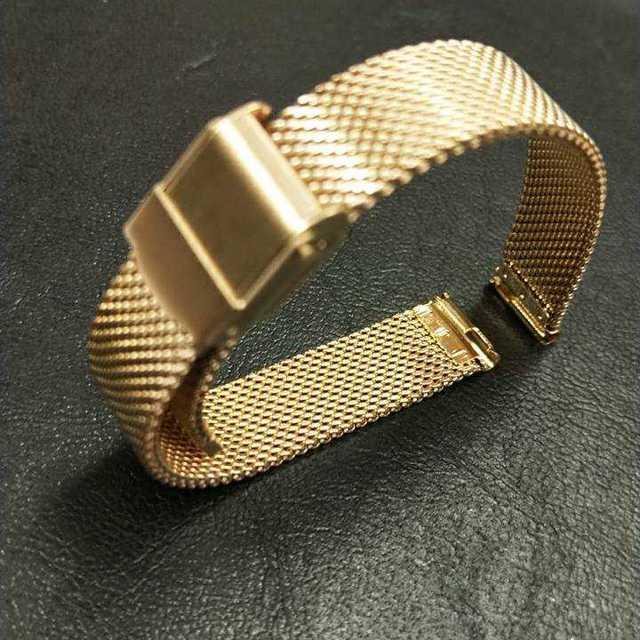 時計バンド ステンレス メッシュ 14mm 腕時計 バネ棒 ゴールド 14mmの通販 by SIXSENCE|ラクマ