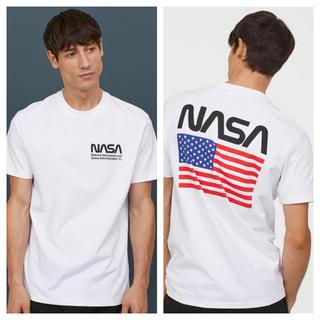 エイチアンドエム(H&M)の【H&M】新作&新品  ☑️ NASA Tシャツ Lサイズ(Tシャツ/カットソー(半袖/袖なし))