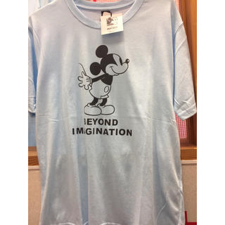 Disney - 新品 メンズ ミッキー 水色 Tシャツ メンズ disney  ディズニー
