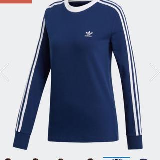 新品 未使用 タグ付き adidas 3ストライプ 長袖Tシャツ