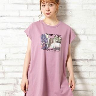 INGNI - 【新品】フレンチスリーブ/転写プリントチュニックTシャツ!!【イング】