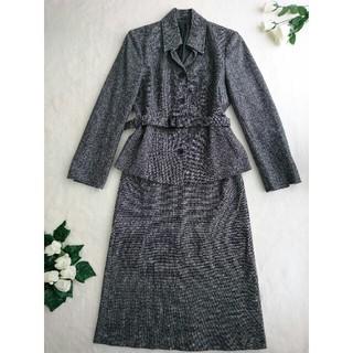 BURBERRY - 【美品】BURBERRY 高級ツイードスーツ カシミヤ混 価格22万