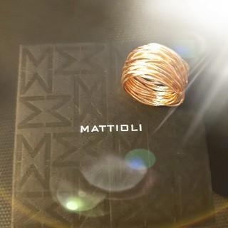 カルティエ(Cartier)の美品 本物 k18 pg マッティオリ MATTIOLI 18号 (リング(指輪))