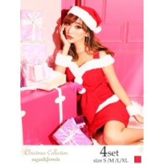 ジュエルズ(JEWELS)のクリスマス コスプレ サンタ ショルダーアウトカットペプラムサンタドレス(衣装一式)