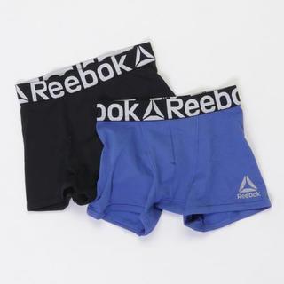 リーボック(Reebok)のリーボック トレーニング ボクサー ブリーフ ブルー・ブラック 2枚組(ボクサーパンツ)