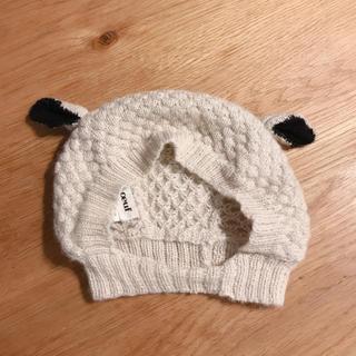 キャラメルベビー&チャイルド(Caramel baby&child )のoeuf 羊さんボンネット 6-12m(帽子)