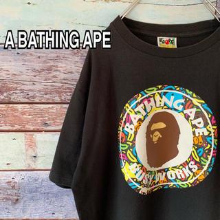 A BATHING APE - アベイシングエイプ Lサイズ 大猿 Tシャツ ブラック マイロ