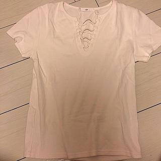 スライ(SLY)のSLY レースアップTシャツ(Tシャツ(半袖/袖なし))