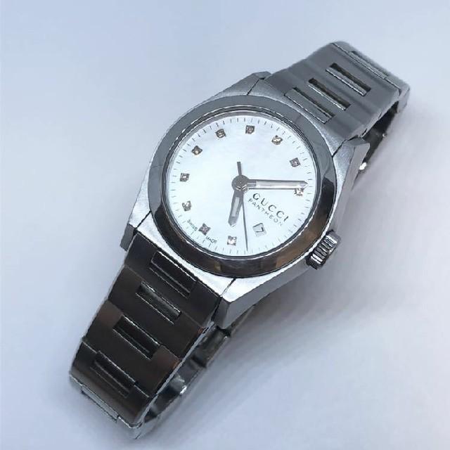 Gucci - グッチ 115.5 パンテオン 10Pダイヤ シェル文字盤 レディース腕時計の通販 by anfan0207's shop|グッチならラクマ
