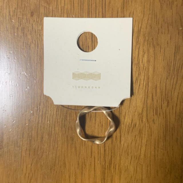 ゴールドリング 時空間 韓国 レディースのアクセサリー(リング(指輪))の商品写真