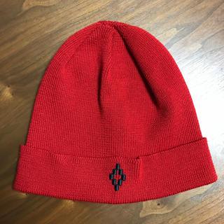 マルセロブロン(MARCELO BURLON)のMARCELO BURLON マルセロバーロン ニット帽 キャップ レッド(キャップ)