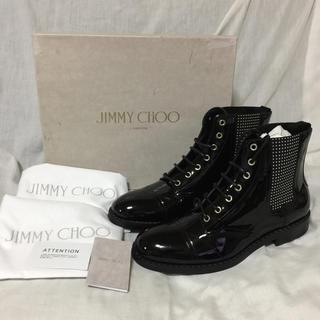 ジミーチュウ(JIMMY CHOO)の新品 本物 正規品 ジミーチュウ メンズ レザー ブーツ シューズ 革靴 黒(ブーツ)