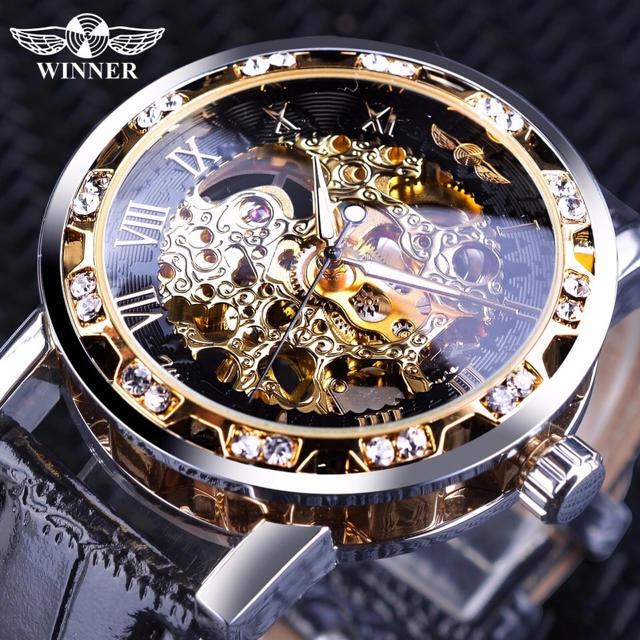 腕時計 ゴールド スケルトン 自動巻きの通販 by クリボー's shop|ラクマ