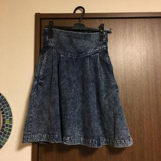 ケービーエフ(KBF)のケミカルデニムスカート♡(ひざ丈スカート)