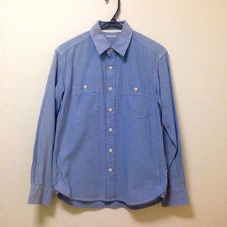 ジーユー(GU)のダンガリーシャツ(シャツ/ブラウス(長袖/七分))