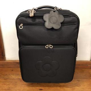 MARY QUANT - マリークワント スーツケース 黒(ブラック)花柄 シンプル キャリーバッグ 旅行