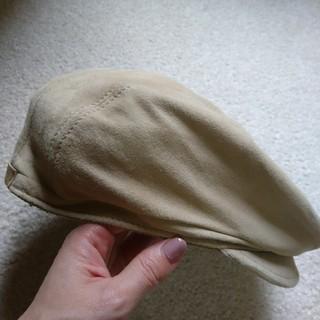 グッチ(Gucci)のGUCCIスエードベレー帽(ハンチング/ベレー帽)