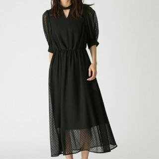 mysty woman - ミスティウーマン カットドビーシアドレス ワンピース