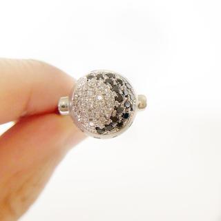 セール!【未使用】Pt900 ブラックダイヤモンド×天然ダイヤリング(リング(指輪))