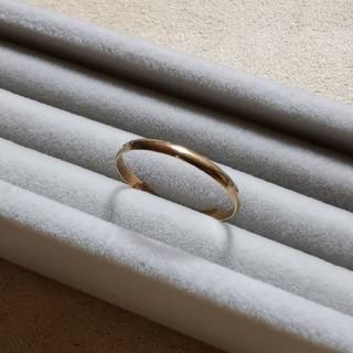 ヨンドシー(4℃)の4℃ k18 イエローゴールド リング 細身(リング(指輪))