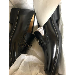 革靴ローファー 黒 25cm(ローファー/革靴)