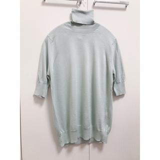 ドゥロワー(Drawer)の2019SS drawer シルク タートル 五分袖ニット(ニット/セーター)