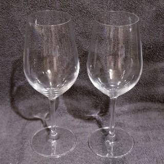 トウヨウササキガラス(東洋佐々木ガラス)のワイングラス ペア 2個 東洋佐々木ガラス ディアマン 365ml 美品 2脚(グラス/カップ)