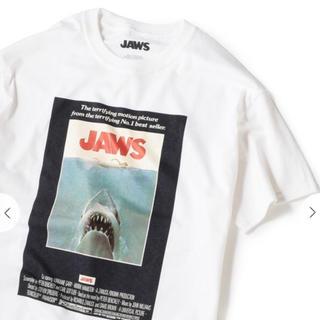 シップス(SHIPS)のSHIPS MOVIE Tシャツ ジョーズ ホワイト M シップス タグ付き(Tシャツ/カットソー(半袖/袖なし))