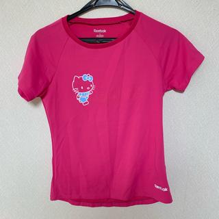ハローキティ(ハローキティ)のReebok×キティ スポーツウエア コラボ 速乾素材 レディース Tシャツ(Tシャツ(半袖/袖なし))