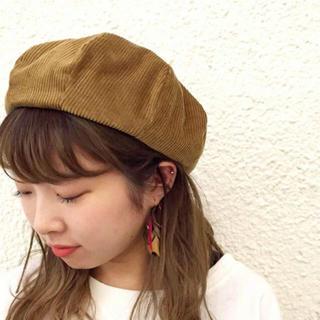 カスタネ(Kastane)のkastane コーデュロイ ベレー帽(ハンチング/ベレー帽)