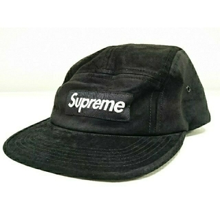 シュプリーム(Supreme)のSupreme シュプリーム スウェード キャップ ブラック(キャップ)