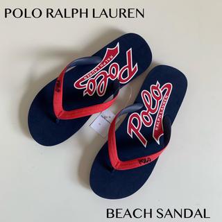 ポロラルフローレン(POLO RALPH LAUREN)のPOLO RALPH LAUREN ラルフローレン スクリプト サンダル28cm(ビーチサンダル)