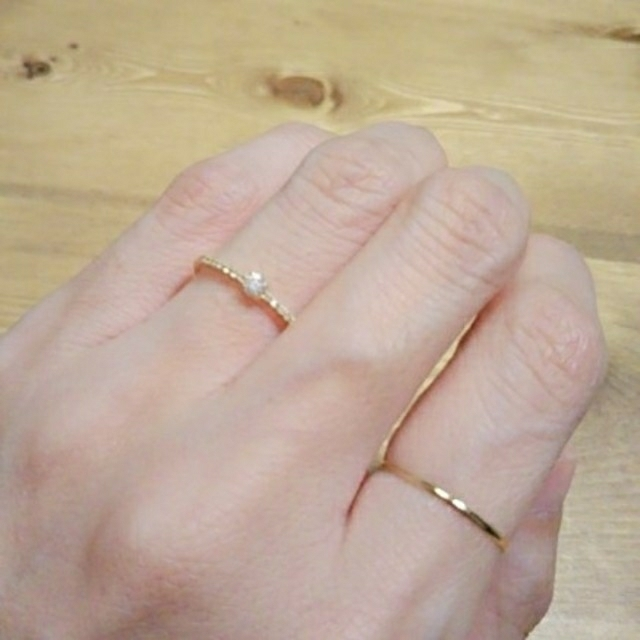 ♡未使用♡ファランジリング♡K18刻印有り♡ レディースのアクセサリー(リング(指輪))の商品写真