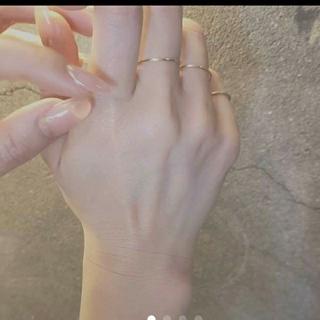 ♡未使用♡極細ファランジリング♡K18刻印有り♡(リング(指輪))