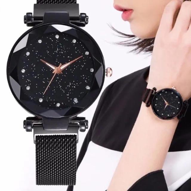 新品未使用★送料無料★ 腕時計 レディース ウォッチ 星空 ブラックの通販 by macco's shop|ラクマ