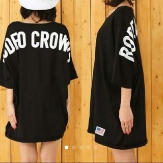 RODEO CROWNS WIDE BOWL - ☆ 新品未使用 ☆ ロデオ バックロゴ ビッグTシャツ ワンピース ホワイト