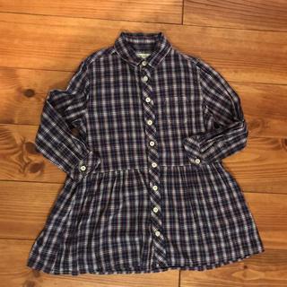 コドモビームス(こども ビームス)のチェックシャツ シャツワンピース 110(ワンピース)