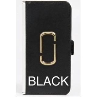 マークジェイコブス(MARC JACOBS)の★新入荷★ マークジェイコブス iPhone XR手帳型ケース BLACK(iPhoneケース)