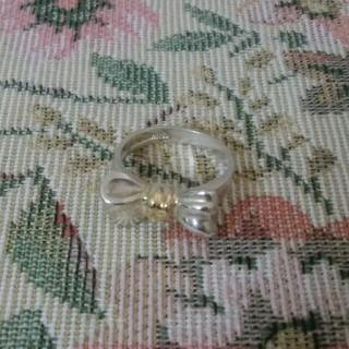 ティファニー(Tiffany & Co.)のティファニー リボンモチーフコンビリング 8号 シルバー(リング(指輪))