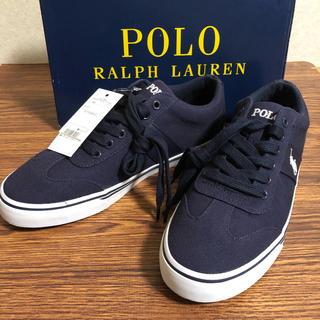 ポロラルフローレン(POLO RALPH LAUREN)の新品未使用 ラルフローレン キャンバス スニーカー メンズ(スニーカー)